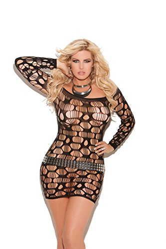 Absolutely Outrageous Off The Shoulder Racy Ripped Net Mini Dress Lingerie