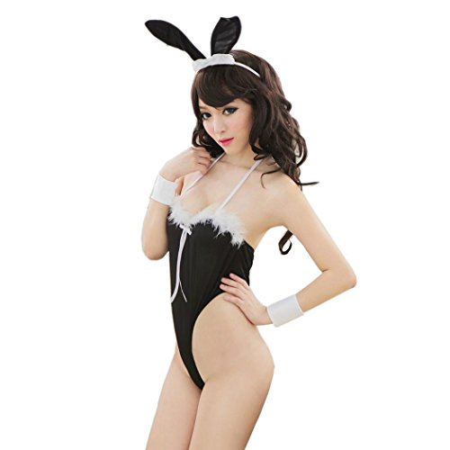 Playsuit Women Hot Sexy Bunny Body Suit Cosplay Costume Uniform Underwear CaF8