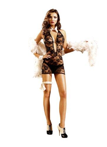 Baci Lingerie Women's Criminal Minds Deep V-Neck Halter Dress