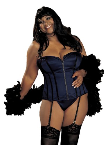 Shirley of Hollywood Women's Plus-Size Break Away Zipper Front Corset