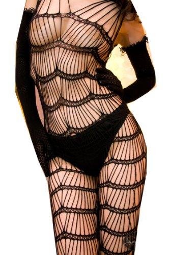 WIIPU black Sexy Women Sexy Body Open Crotch FishNet Lingerie Tights Pantyhose Stockings(LN142)