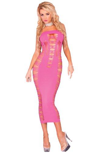 Pink Lipstick Women's Big Spender Seamless Long Tube Dress