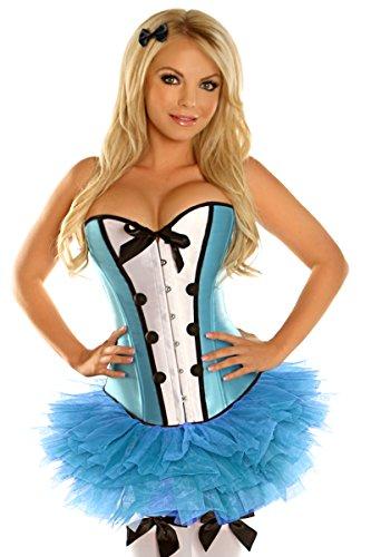 Daisy Corsets Women's 4 Piece Sexy Alice Costume