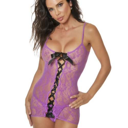 Dreamgirl Women's Lace Up Chemise