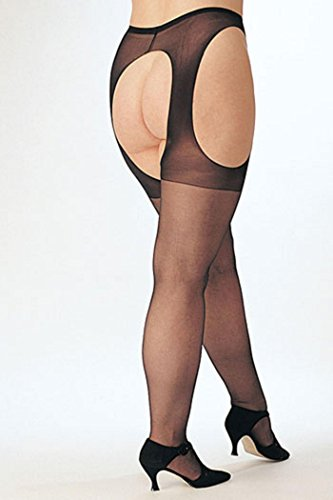 Plus Size Suspender Pantyhose. Shirley of Hollywood X5079. Nude. Plus Size.