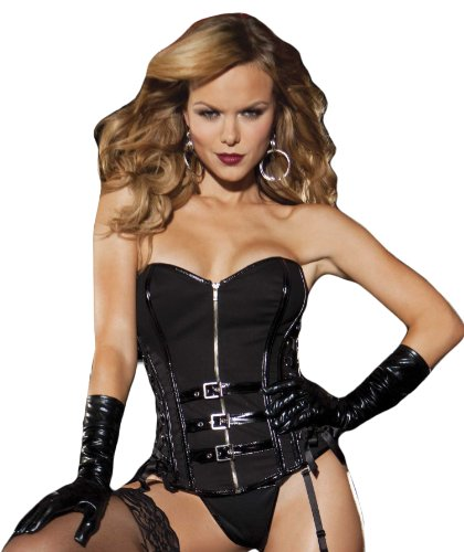 Shirley of Hollywood Women's Stretch Twill Strapless Corset