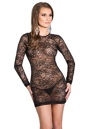 Coquette Women's Stretch Lace Mini Dress with Scoop Back