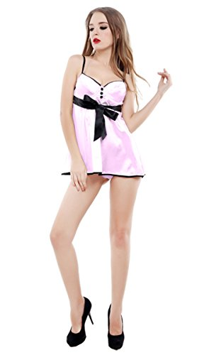 Sexy Lingerie Nightwear/underwear, Baby Doll & Thong, Sleepwear (Xxl, Pink)
