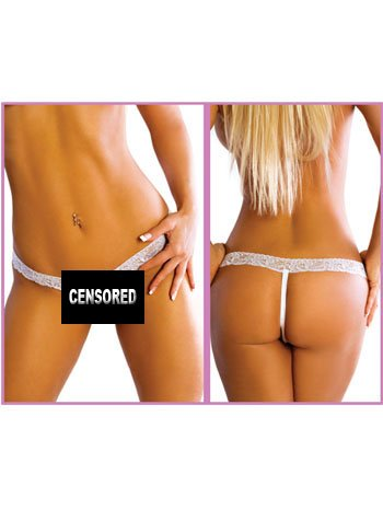 Sexy Criss Cross Crotchless Thong – ONE SIZE