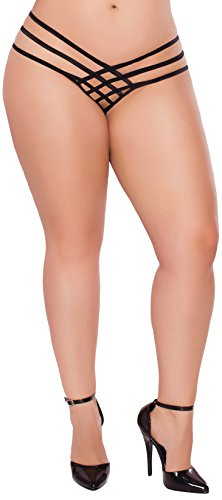 Seven Til Midnight Women's Plus-Size Queen Size Strap Me In Thong