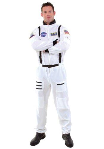 Mens Orange Astronaut Costume