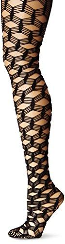 Leg Avenue Women's Large 5-String Fish Scale Fishnet Panty Hose