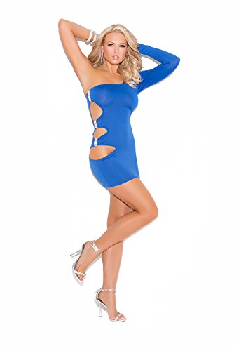 Elegant Moments Women's Plus-Size Queen Size One Shoulder Dress