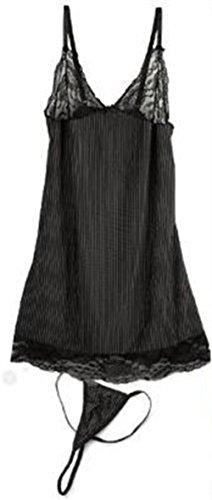 Women Sexy Lace Lingerie Babydoll Sleepwear Nightdress Underwear +G-string