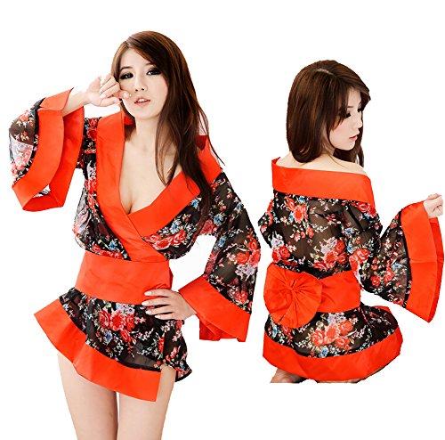 DAYAN Sexy Costume for Women Kimono Cosplay Geisha Erotic Lingerie Dress