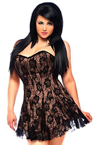 Daisy Corsets Women's Lavish Lace Corset Dress