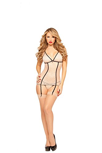 Seven Til Midnight Women's Sweet Spot Two Piece Chemise and Thong Set