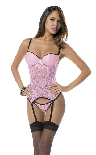 Escante Women's Lace Bustier with Hose