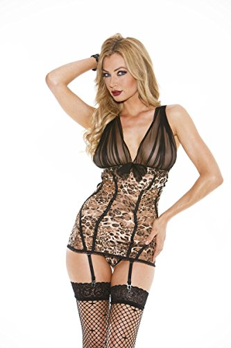Shirley of Hollywood EL-SOH-25431 Stretch Lace Gartered Chemise