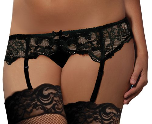 Seven Til Midnight Women's All Lace Garter Belt Plus