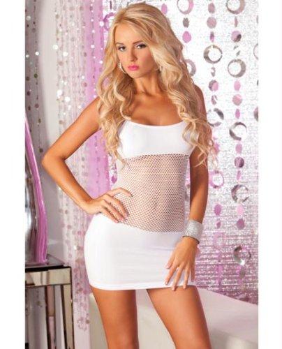 Pink Lipstick Adrenaline Seamless Net Dress White O/S