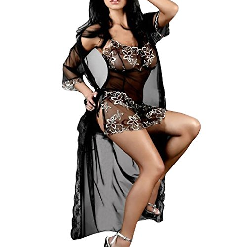 Relaxlama Women's 3pc Embroidery Lingerie Dress Set
