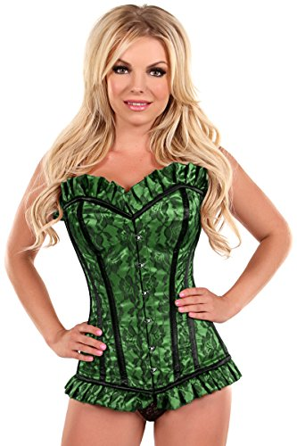 Daisy Corsets Women's Top Drawer Lace Steel Boned Corset with Metal Closure