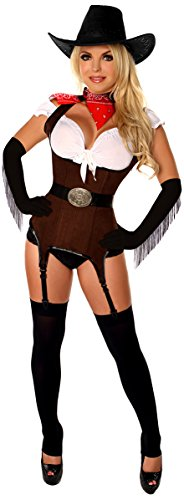 Daisy Corsets Women's Top Drawer Ride 'Em Cowgirl Premium Corset Costume