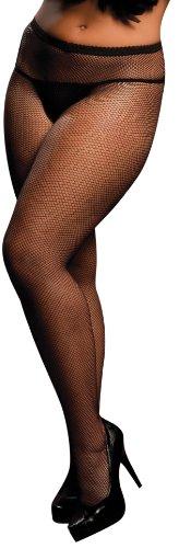Seven Til Midnight Women's Plus-Size Fishnet Hosiery Plus