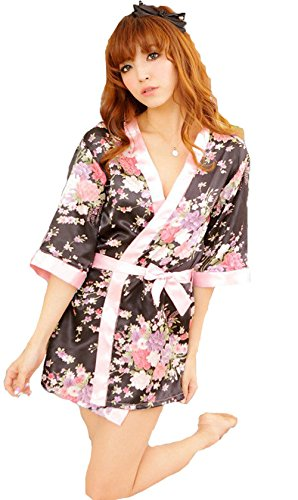 Sexy Womens Lingerie Sleepwear Robe Japanese Kimono Costume Uniform