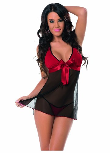 Escante Women's Sexy Sheer Baby Doll