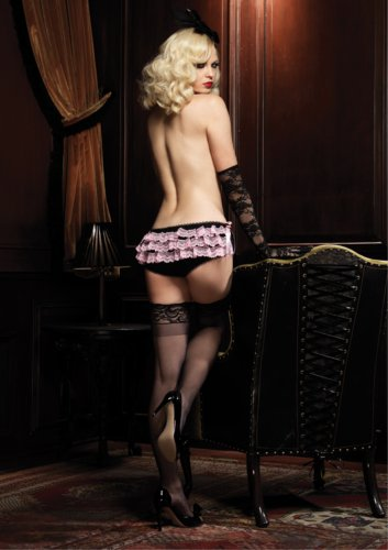 Leg Avenue Women's Burlesque Booty Short with Lace Rhumba Ruffle