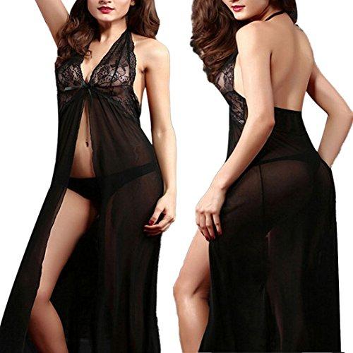 HP95(TM) Women Temptation Longuette Sleepwear Transparent Underwear+T Pants