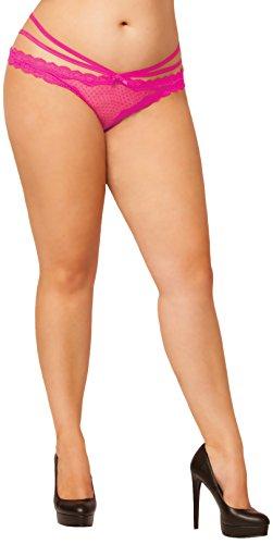Seven Til Midnight Women's Plus-Size Laila Open Crotch Panty