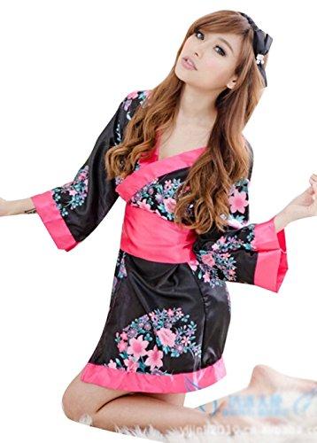 HOT Sell Women's Sexy Lingerie Japanese Kimono Pajamas Set Dress