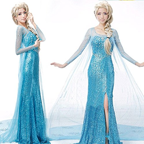 Valley Wear Adult Woman's Frozen Elsa costume Graduation Party Dress Size M