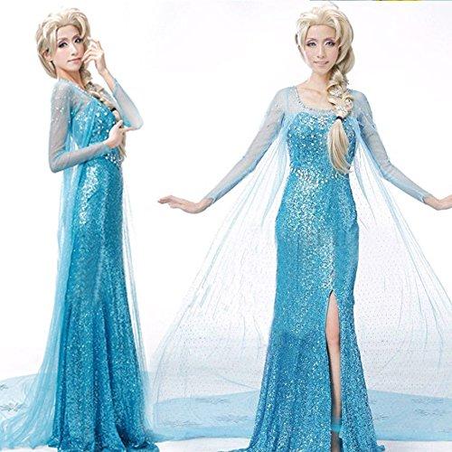 Valley Wear Adult Woman's Frozen Elsa costume Graduation Party Dress Size M