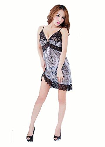 Womens Lady Sexy Lace Robe Sleepwear Lingerie Pajamas Nightdress G-string
