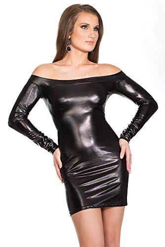 Coquette Women's Darque Wet Look Long Sleeve Dress