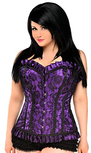 Daisy Corsets Women's Top Drawer Steel Boned Lace Long Line Corset