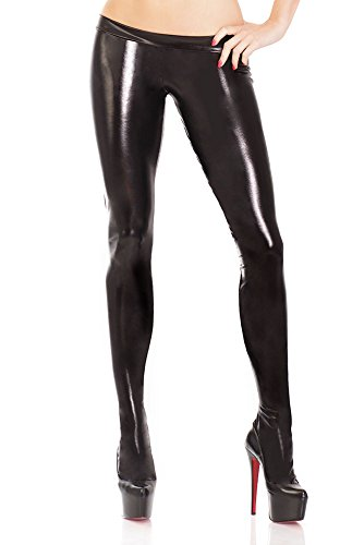 Coquette Women's Darque Wet Look Footed Leggings