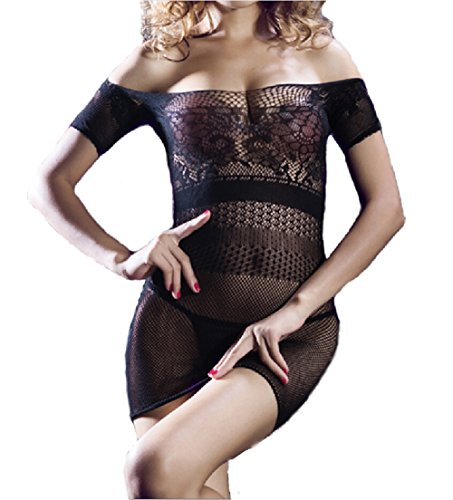 MROUS Women's Fishnet Pretty Pajama Sexy Lingerie Erotic Transparent Underwear for Sex Flirt