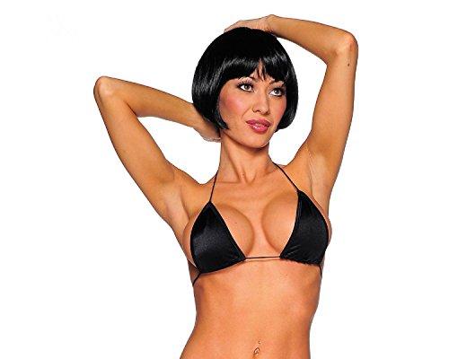 Sexy Black Tri Top Bra. Sexy Bra. Black. One Size. Made in the USA. 1611SL.