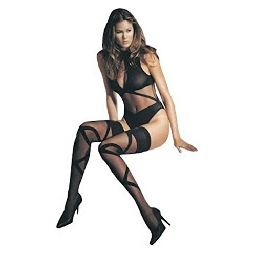 Leg Avenue 8212 Two Pice Criss Cross Teddy. Black. One Size.