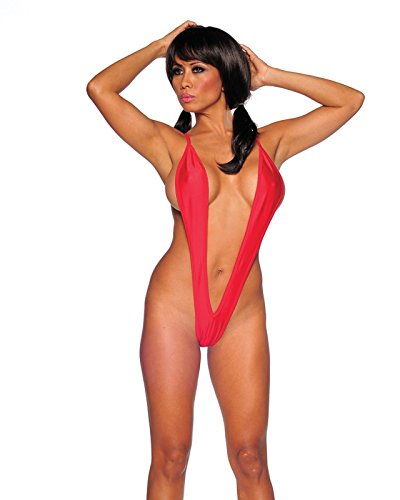 Sexy Thong Back Teddy. Thong Back Lingerie. Red. One Size. Made in USA.