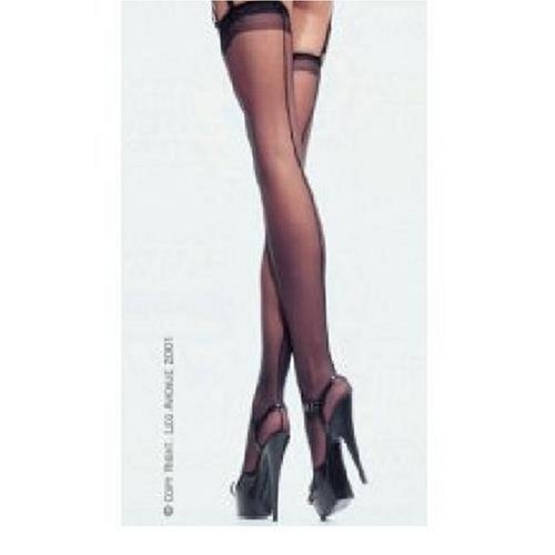 Leg Avenue Women's Queen Sheer Stockings with Back Seam #1000Q
