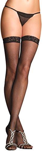 Rene Rofe Women's Lace Top Sheer Thigh Highs