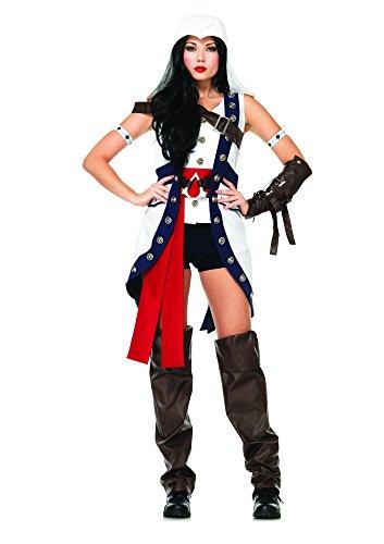 Leg Avenue Women's Assassin's Creed 6 Piece Connor Girl