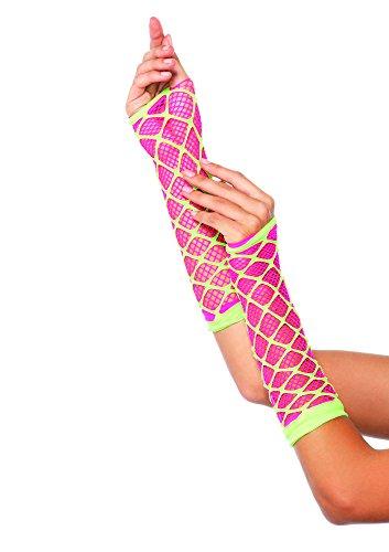 Leg Avenue Women's Duel Net Neon Arm Warmer