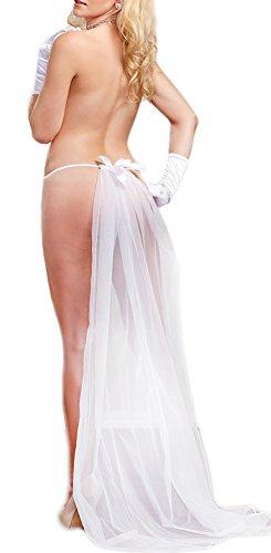 Amilia Lace Sexy Panty Bridal Veil Erotic G String Temptation See Through Bottom